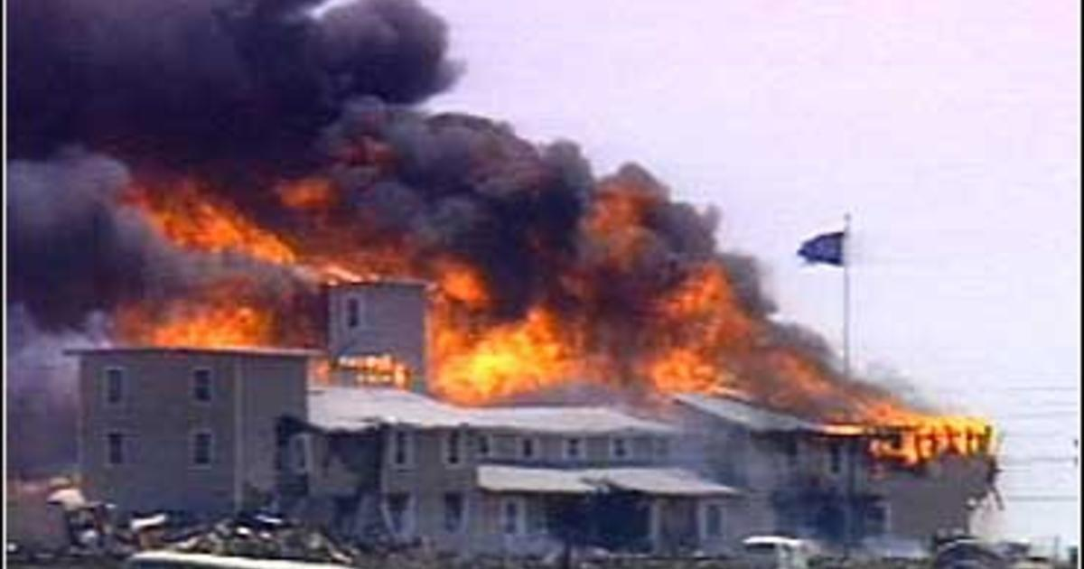 The Branch Davidian compound in Waco, Texas, burned in 1993 during the climax of a standoff between members and federal agents.